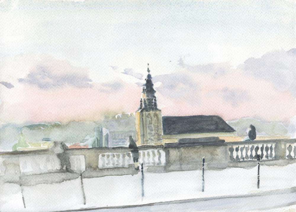 Vue du Palais de Justice - Fránçois Marry