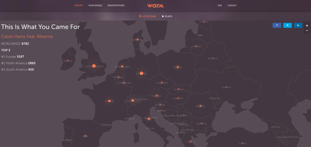 Tech, Tech,Tech: Monitoring music with WARM