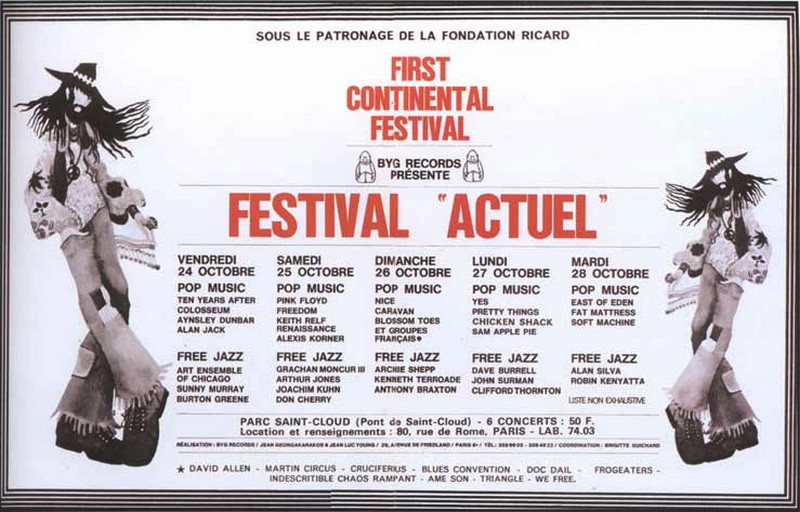 3 Festival Actuel Paris 1969