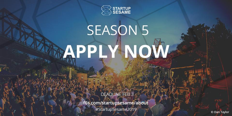 ​Startup Sesame​ just opened their Season 5 call for entries!