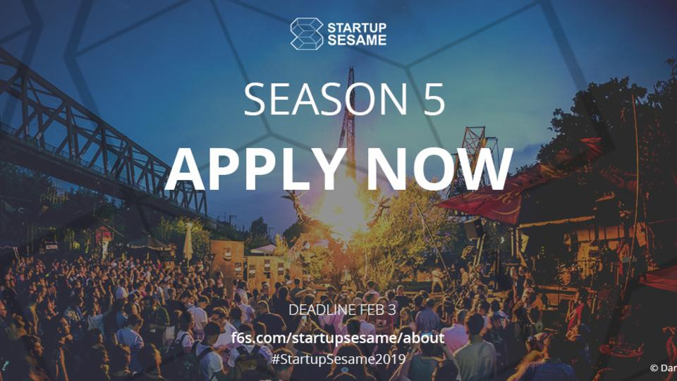 Startup Sesame just opened their Season 5 call for entries!