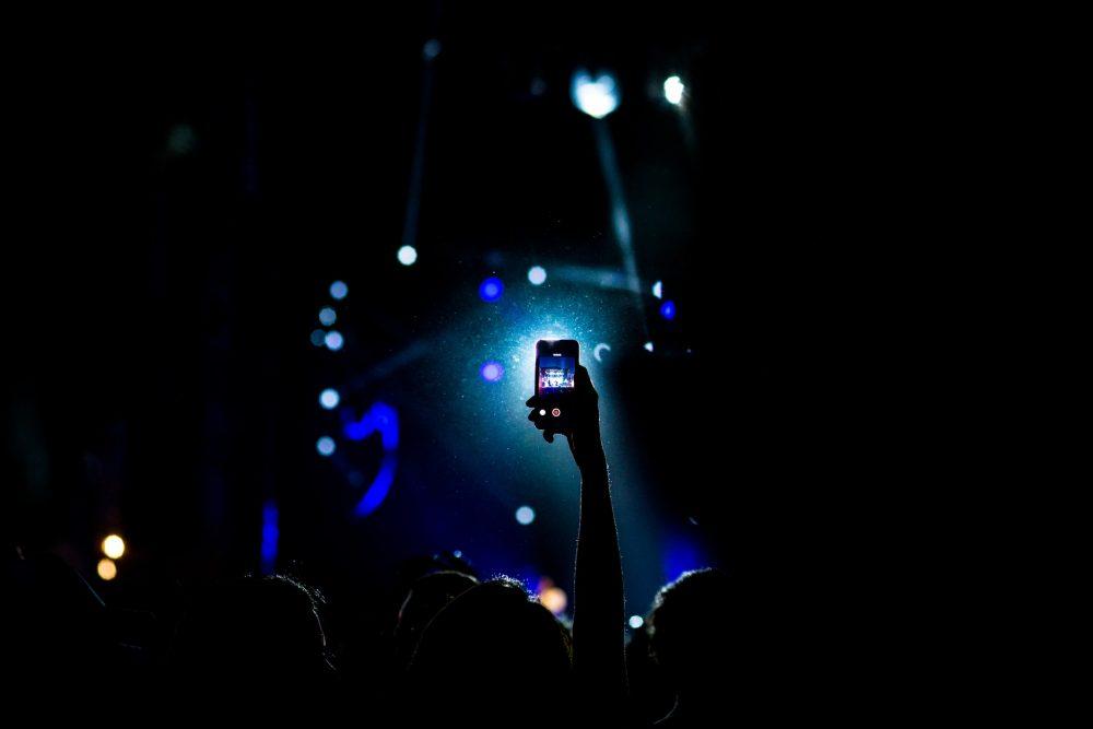 Smartphone at a concert