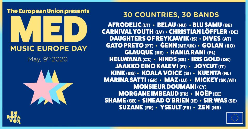Music Europe Day: 30 countries, 30 artists