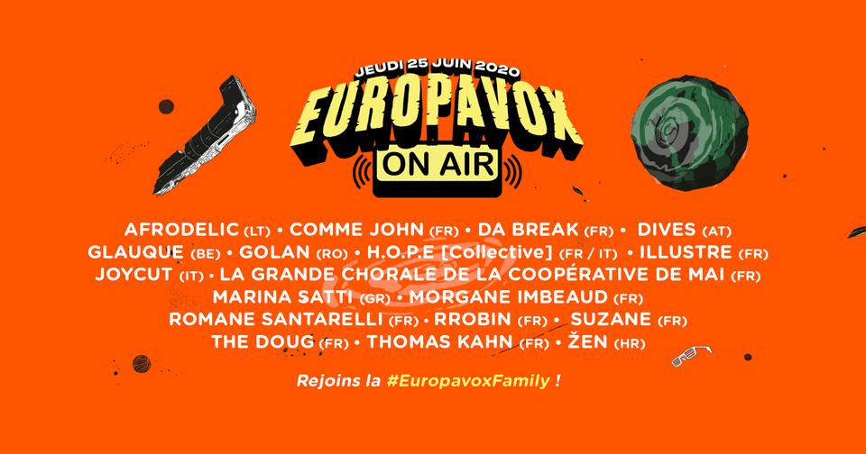 Europavox On Air – line-up unveiled!