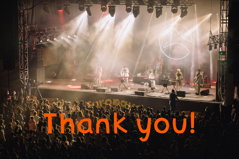 Europe festival thank you